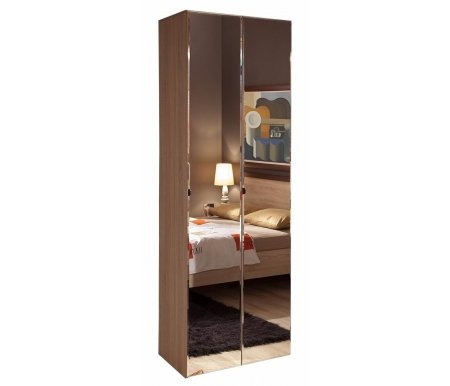 Шкаф двухдверный для одежды Баухаус (Bauhaus) 8 (фасад зеркало)Шкафы<br><br>