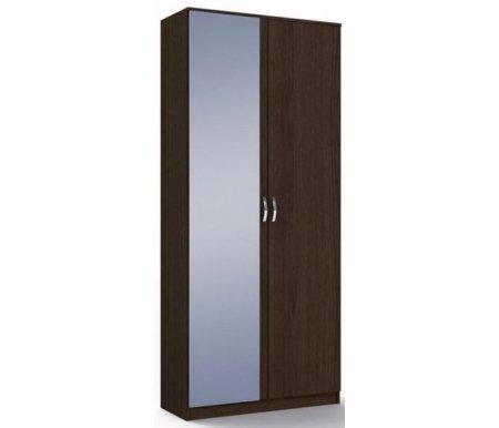 Шкаф двухдверный с зеркалом Ольга МСТ-ПДО-Ш2-##-З1 венгеШкафы<br><br>