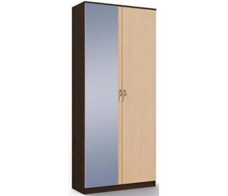 Шкаф двухдверный с зеркалом Ольга МСТ-ПДО-Ш2-##-З1 венге / дуб молочныйШкафы<br><br>