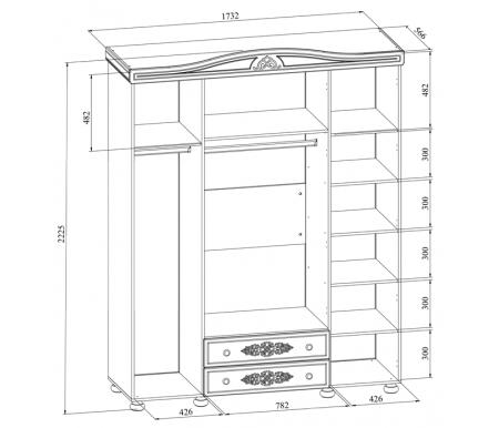 Шкаф комбинированный Компасс