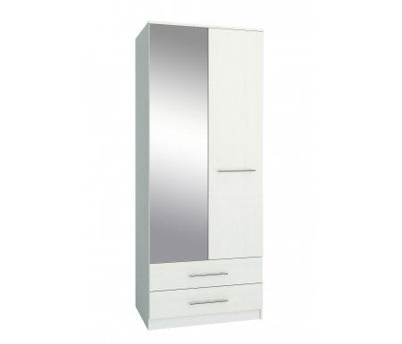 Шкаф Ланс-23 МСТ-ШРЛ-23-##-16 с зеркалом белыйШкафы<br>Зеркальную дверь можно вешать как справа, так и слева.<br>