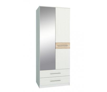 Шкаф Ланс-23 МСТ-ШРЛ-23-##-16 с зеркалом белый / дуб сономаШкафы<br>Зеркальную дверь можно вешать как справа, так и слева.<br>