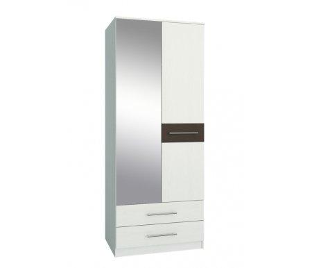 Шкаф Ланс-23 МСТ-ШРЛ-23-##-16 с зеркалом белый / венгеШкафы<br>Зеркальную дверь можно вешать как справа, так и слева.<br>