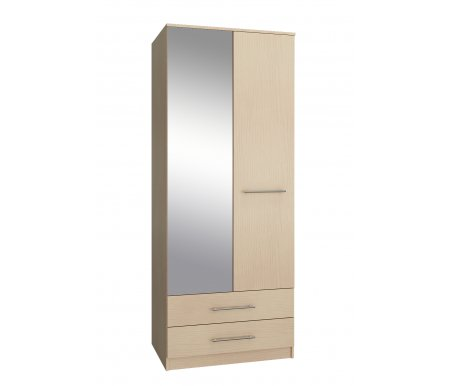 Шкаф Ланс-23 МСТ-ШРЛ-23-##-16 с зеркалом дуб молочныйШкафы<br>Зеркальную дверь можно вешать как справа, так и слева.<br>