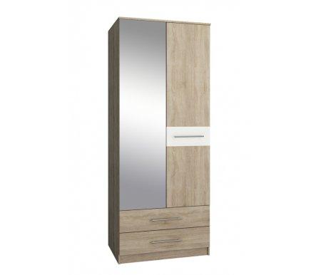 Шкаф Ланс-23 МСТ-ШРЛ-23-##-16 с зеркалом дуб сонома / белыйШкафы<br>Зеркальную дверь можно вешать как справа, так и слева.<br>