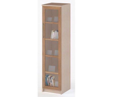 Шкаф однодверный СОЛО-015 стекло молочный дуб / сливаШкафы<br><br>