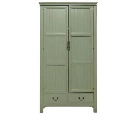 Шкаф Olivia (GA2004)Шкафы<br>Практичный и элегантный шкаф. Вы сможете уместить в него все, что будет нужно и он прекрасно впишется в интерьер вашей спальни или гостиной.<br><br>Ширина: 118 см<br>Глубина: 60 см<br>Высота: 220 см<br>Материал: массив березы<br>Цвет: оливковый<br>Вес: 100 кг