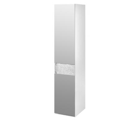 Шкаф-пенал Амели с зеркалом 193.07.002 правыйШкафы<br>Фасад декорирован цветочным орнаментом.<br> <br>Ручки шкафа выполнены из металла, украшенного стразами.<br> <br>Оснащен пятью полками.<br>
