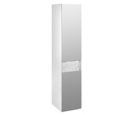 Шкаф-пенал Амели с зеркалом 193.07.002 левыйШкафы<br>Фасад декорирован цветочным орнаментом.<br> <br>Ручки шкафа выполнены из металла, украшенного стразами.<br> <br>Оснащен пятью полками.<br>