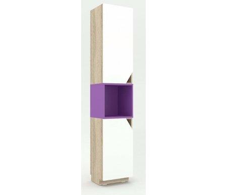 Шкаф-пенал Аванти 709 с фиолетовой вставкойМодульные стеллажи<br><br>