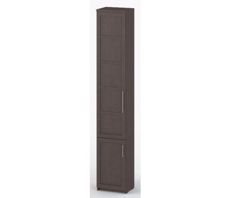 Шкаф-пенал книжный Соло-038 ДСП венге / венгеШкафы<br><br>