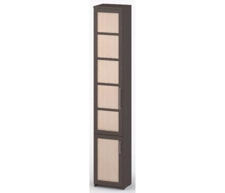 Шкаф-пенал книжный Соло-038 ДСП венге / венге / молочный дубШкафы<br><br>