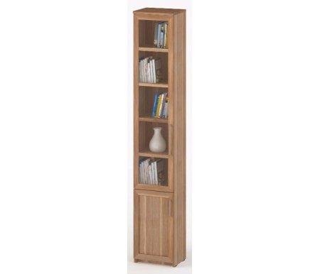 Шкаф-пенал книжный СОЛО-038 стекло слива / сливаШкафы<br><br><br>Ширина: 40 см<br>Глубина: 32 см<br>Высота: 231 см<br>Материал: ЛДСП, стекло<br>Вес: 48 кг