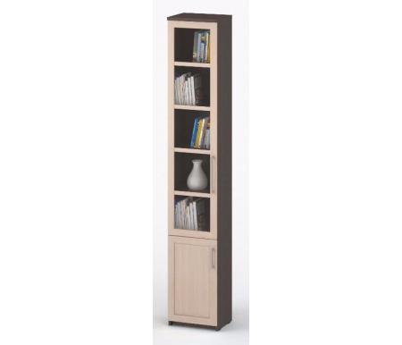 Здесь можно купить книжный СОЛО-038 стекло  Шкаф-пенал Васко