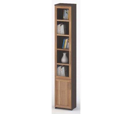 Шкаф-пенал книжный СОЛО-038 стекло венге / сливаШкафы<br><br>