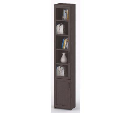 Шкаф-пенал книжный СОЛО-038 стекло венге / венгеШкафы<br><br>
