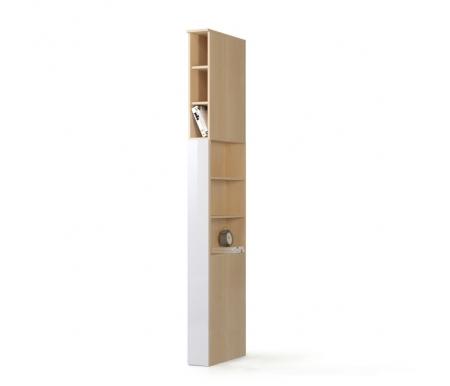 Шкаф-пенал прикроватный Николь СВ-541/1 левый дуб кремона / белый глянецШкафы<br><br>