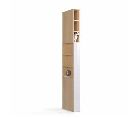 Шкаф-пенал прикроватный Николь СВ-541/1 правый дуб кремона / белый глянецШкафы<br><br>