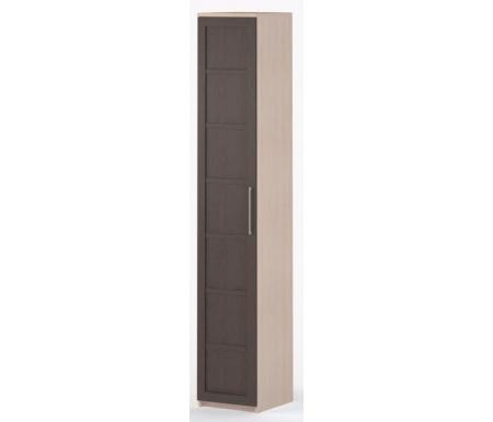 Шкаф-пенал Соло-002 45 см ДСП молочный дуб / венгеШкафы<br><br>