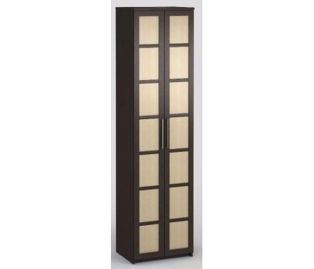 Шкаф платяной 45 Соло-027 ДСП венге / венге / молочный дубШкафы<br>Дополнительно можно приобрестивкладные полки.<br>