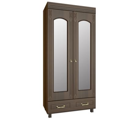 Шкаф платяной с зеркалом Элизабет ЭМ-16 орех темныйШкафы<br><br>