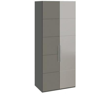 Шкаф с 1-й глухой и 1-й зеркальной дверями Наоми СМ-208.07.04Шкафы<br>МДФ плита покрыта пленкой ПВХ.<br>
