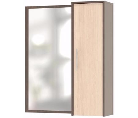 Полка с зеркалом ПЗ-4 венге / беленый дубШкафы<br>Шкаф изготовлен из ДСП толщиной 16 мм, покрытой ПВХ кромкой (толщина 0,4 мм). По желанию клиента зеркало может быть размещено слева или справа от шкафа (при сборке). <br> <br>  <br> <br> <br>Поставляется в разобранном виде. <br>  <br> <br>  <br> Возможные сочетания цвета корпуса и цвета фасада: <br>  <br> - венге / беленый дуб; <br>  <br> - испанский орех / испанский орех; <br>  <br> - ноче-экко / ноче-экко; <br>  <br> - ясень шимо темный / беленый дуб; <br>  <br> - беленый дуб / беленый дуб.<br><br>Цвет: Дуб венге / Беленый дуб<br>Цвет: Испанский орех<br>Цвет: Ноче-экко<br>Цвет: Ясень Шимо темный / Беленый дуб