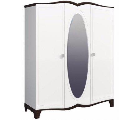Шкаф Тиффани MH-122-04Шкафы<br>Вместительный шкаф Тиффани станет настоящей находкой для любителей изысканного стиля. <br>Оформленный в светлых тонах и из качественных материалов шкаф не только не выглядит грозмоздко, но и визуально расширяет пространство.<br> <br>Зеркало поставляется в комплекте.<br> <br>Шкаф поставляется в разобранном виде.<br> <br> <br>  <br> <br> Материал фасада: МДФ-16 Kronospan Szczecinek (Польша) / ПВХ Alfaterm (Италия) <br>               МДФ-22 Kronospan Szczecinek (Польша) / ПВХ Alfaterm (Италия)<br> <br>               МДФ-28 Kronospan Szczecinek (Польша) / ПВХ Alfaterm (Италия).<br> <br> <br>  <br> <br> <br>Материал корпуса: МДФ-16 Kronospan Szczecinek (Польша) / ПВХ Alfaterm (Италия)<br> <br>                ДСП-16 Kronospan Szczecinek (Польша).<br> <br> <br>  <br> <br> <br>Материал фурнитуры: Gamet, Patrex (Польша).<br> <br>Материал направляющих: Quadro–Hettich (Германия).<br>