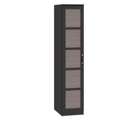 Шкаф торцевой Токио 131.10.001 венге цаво / каналы дубаШкафы<br>При сборке дверца шкафа может быть установлена как справа, так и слева.<br> <br>Ручки выполнены из пластика.<br> <br>Оснащен пятью полками.<br> Глубина меньшей стороны 45 см.<br>Габаритная глубина 58,6 см.<br><br>Габаритная ширина 45,4 см.<br>