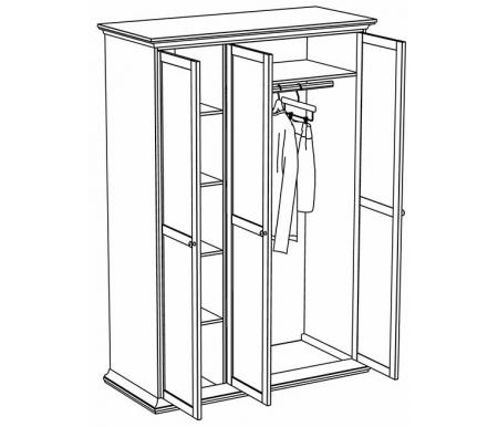 Шкаф трехдверный ОГОГО Обстановочка
