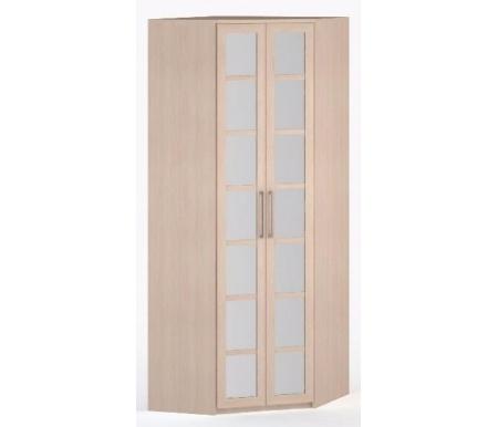 Шкаф угловой 45-45 Соло-036 с зеркалом молочный дуб / молочный дубШкафы<br><br>