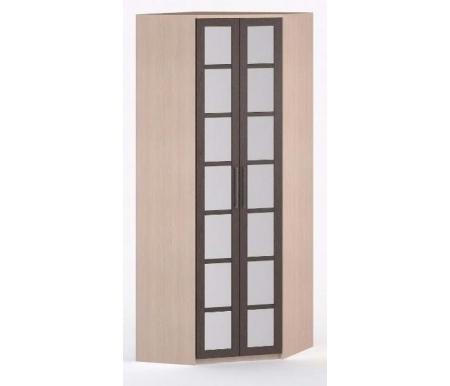 Шкаф угловой 45-45 Соло-036 с зеркалом молочный дуб / венгеШкафы<br><br>