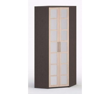 Шкаф угловой 45-45 Соло-036 с зеркалом венге / молочный дубШкафы<br><br>