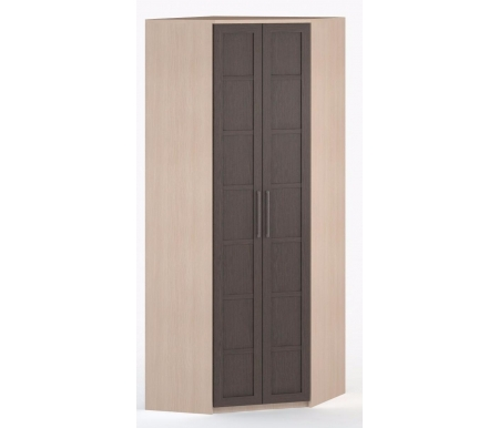 Шкаф угловой 45-60 СОЛО-030 ДСП молочный дуб / венгеШкафы<br><br>