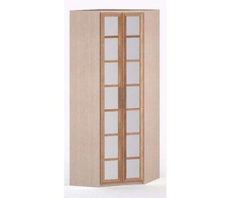 Шкаф угловой 60-45 Соло-014 с зеркалом молочный дуб / сливаШкафы<br><br>