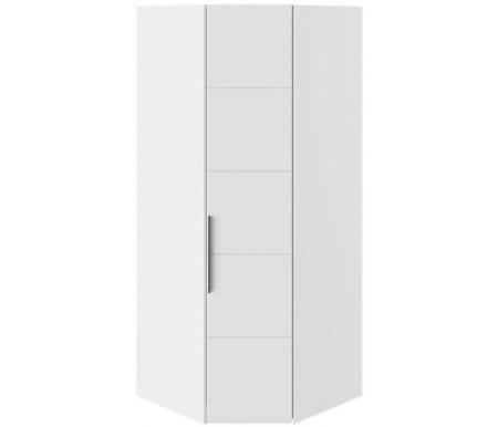 Купить Шкаф угловой Трия, с одной дверью Наоми СМ-208.07.06 белый глянец