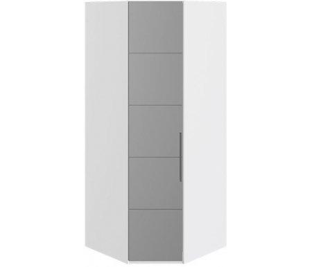 Купить Шкаф угловой Трия, с одной дверью Наоми СМ-208.07.07 L левый белый глянец