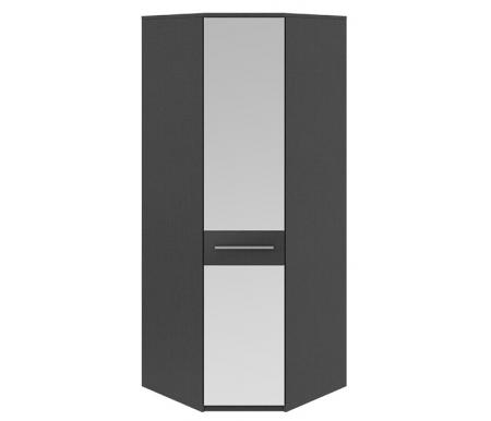 Шкаф угловой с одной дверью с зеркалом Сити СМ-194.07.007Шкафы<br>Шкаф угловой с одной дверью с зеркалом Сити СМ-194.07.007 - это удобная и вместительная модель, которая отлично впишется в спальню. <br>Оснащен пятью полками и штангой.<br> <br>Ручка цвета хром выполнена из металла.<br> <br>Зеркальный фасад шкафа отлично сочетается с темно-серым цветом корпуса тексит, который имитирует ткань. Полки шкафа выполнены в светлом бежевом цвете каттхилт, имитирующим поверхность дерева.<br>