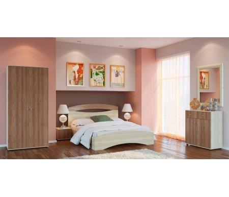 Спальня БолероСпальные гарнитуры<br>Болеро - современная спальня в приятной цветовой гамме. Обратите внимание на дизайнерское решение - светлый каркас и тёмный фасад у мебели. В спальный гарнитур входят: кровать, шкаф для одежды, две прикроватные тумбы и комод.<br><br>Цвет: Ясень шимо светлый / Ясень шимо тёмный<br>Размер спального места: 160 см x 200 см<br>Габариты кровати: 170 см х 204 см<br>Высота кровати: 99 см<br>Тумба прикроватная: 40 см х 40 см х 30 см<br>Шкаф: 90 см х 57 см х 190 см<br>Комод: 80 см х 40 см х 85,9 см<br>Материал: ЛДСП<br>Цвет: ясень шимо светлый / ясень шимо тёмный