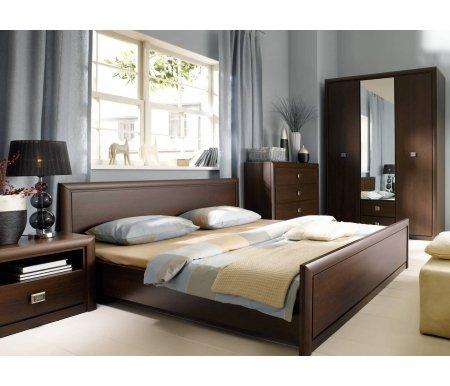 Спальня Коен (комплектация 1)Спальные гарнитуры<br>Шкаф внутри имеет штангу для вешалок и полки.<br> <br> Ортопедическое основание для кровати приобретается отдельно.<br>
