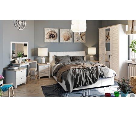 Спальня Ривьера белая (комплектация 3)Спальные гарнитуры<br><br>