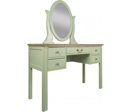 Купить Туалетный стол с зеркалом Этажерка, Olivia GA2006ETG оливковый, Россия
