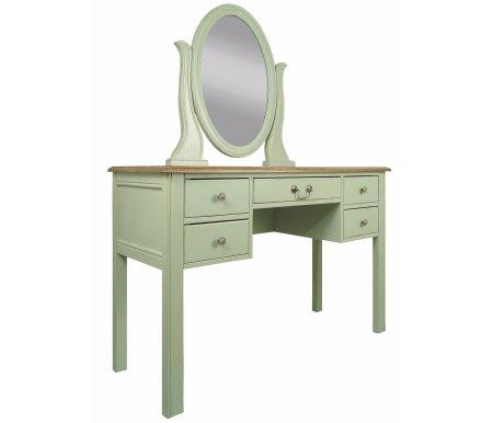 Туалетный стол с зеркалом Olivia (GA2006)Туалетные столики, зеркала<br>Туалетный стол с зеркалом Olivia (GA2006) украсит Вашу спальню и придаст ей аутентичности. <br><br> Представленная модель выполнена из надежных и натуральных материалов.<br><br>Ширина: 120 см<br>Глубина: 45 см<br>Высота: 150 см<br>Материал: массив березы<br>Цвет: оливковый<br>Вес: 25 кг