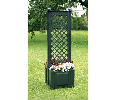 Ящик для растений со шпалерой Osvaldo зеленый Lex-s