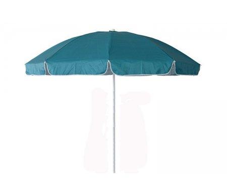 Зонт UM-240/8UF бирюзовыйАксессуары<br>Большой зонт от солнца диаметром 240 см из восьми спиц, прекрасно подойдет к любому лежаку. <br>Ткань oxford 210D полиэстер зонта двусторонняя с ультрафиолетовой пропиткой. <br>Опора состоит из стальных труб диаметром 25 мм верхняя и 28 мм нижняя.<br><br>Длина: 240 см<br>Ширина: 240 см<br>Высота: 240 см<br>Материал: сталь, ткань<br>Цвет: бирюзовый