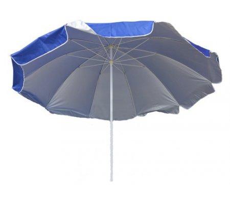 Зонт UM-260/10k синийАксессуары<br>Большой зонт для летних кафе диаметром 260 см из десяти спиц с регулятором высоты. <br>Ткань зонта oxford 210D полиэстер двусторонняя с ультрафиолетовой пропиткой. Опора состоит из стальных труб диаметром 28 мм верхняя и 32 мм нижняя.<br><br>Длина: 260 см<br>Ширина: 260 см<br>Высота: 260 см<br>Материал: сталь, ткань<br>Цвет: синий