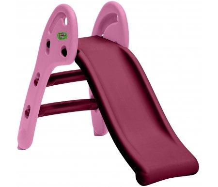 Купить Детская горка Kms-sport, Кнопка бордовая с розовой лесенкой, пластик