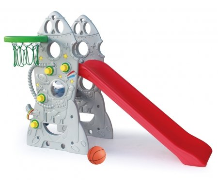 Купить Детская горка Kms-sport, Ракета + баскетбольное кольцо SL-18, пластик