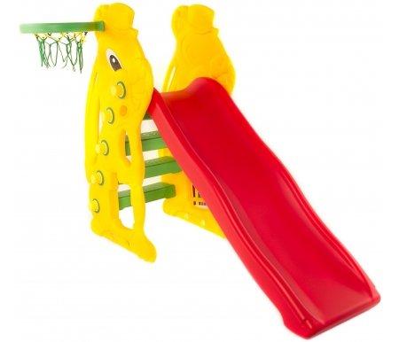 Купить Детская горка Kms-sport, с баскетбольным кольцом Банни, пластик