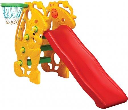 Купить Детская горка Kms-sport, с баскетбольным кольцом Мелодия, пластик